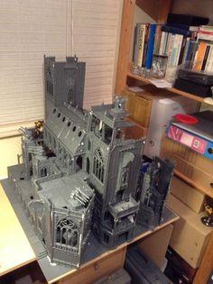 40k, Ruined church with quad guns