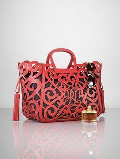 Vachetta Scroll Tote - Ralph Lauren Handbags   Handbags - RalphLauren.com