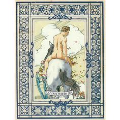 "Felix d'Eon. ""An Autumn Wind."" orignal gay male nude art, horse vintage victorian"