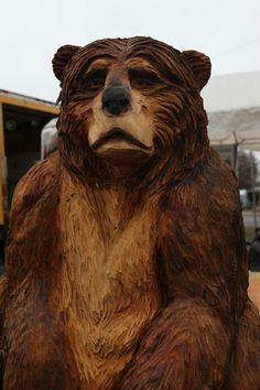 Bear carving by Dennis Beach