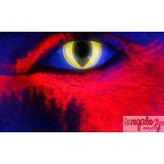 99858a9acccd7 Lentillas de fantasía ojos de gato amarillo fluorescente (anuales). Comprar  LENTILLAS de COLORES