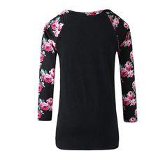 V Collar Long Sleeve Printing Slim T-Shirt - DARK GREY XL