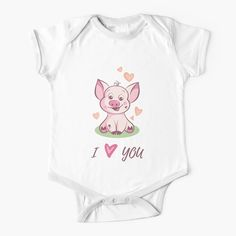 'I Love You Cute Baby Piggy' Kids Clothes by duyvolap Love You Cute, My Love, Simple Dresses, Baby Care, Cute Babies, Dressing, One Piece, Fashion Outfits, Printed