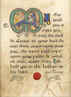 Celtic Card Company presents the illustrated manuscripts of artist Kevin Dillon Old Irish, Irish Art, Irish Celtic, Celtic Art, Irish Quotes, Irish Sayings, Irish Toasts, Celtic Images, Irish Proverbs