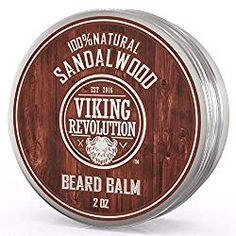 Best Deal Beard Balm with Sandalwood Scent and Argan & Jojoba Oils - Styles, Strengthens & Softens Beards & Mustaches - Leave in Conditioner Wax for Men by Viking Revolution Best Beard Wash, Best Beard Shampoo, Beard Shampoo And Conditioner, Leave In Conditioner, Vitamins For Beard Growth, Beard Softener, Cedar Oil, Beard Look, After Shave Balm