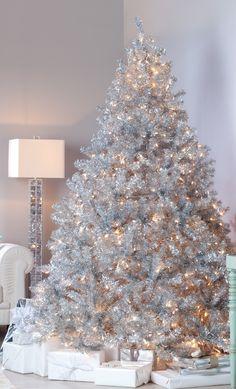 Amazing silver design Christmas tree