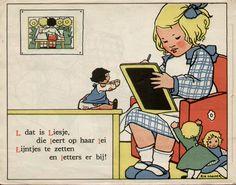 L dat is Liesje R Cramer alfabeth    lb xxx. with a doll