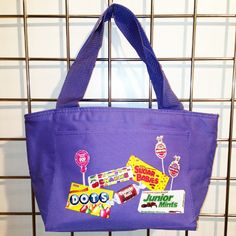 Multi-Candy Insulated Lunch Bag (Purple) - LikeWear Insulated Lunch Bags, Reusable Tote Bags, Junior Mints, Purple Bags, Candy, Sweets, Candy Bars, Chocolates