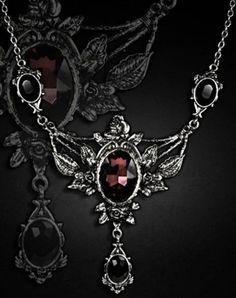 Restyle-Halskette-Dornroeschen-Gothic-Lolita-Victorian-Wild-Rose-Vampire-Necklace