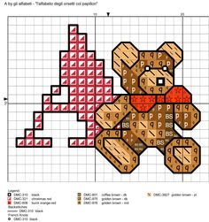 alfabeto degli orsetti col papillon: A
