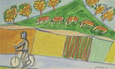 Cyclist with Five Cows Jean Dubuffet 1943
