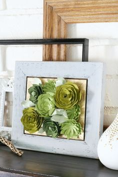 DIY Teen Room Decor Ideas for Girls | Framed Paper Succulents | Cool Bedroom Decor, Wall Art & Signs, Crafts, Bedding, Fun Do It Yourself Projects and Room Ideas for Small Spaces http://diyprojectsforteens.com/diy-teen-bedroom-ideas-girls-rooms