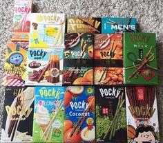 Glico Pocky, Assort Set 7 boxes, Japan, Orange Peel, Matcha, Lemon, Pudding  etc #Glico