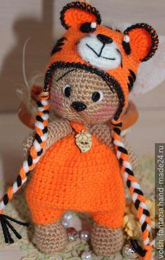 Мишка в костюмчике тигренка, Мишки, Hand-Made24.ru