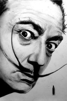 Dalí - Carbon sobre papel 30 x 42