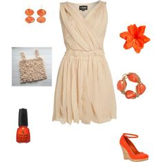 orange, created by mittanderson on Polyvore