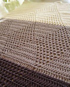 Halager: Hæklet håndklæde i harlekinmønster Crochet Home, Knit Crochet, Scrap, Arts And Crafts, Rugs, Knitting, Inspiration, Dishcloth, Towels