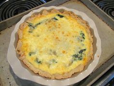 Around the World in 30 Plates: France - Breakfast - Spinach and Gruyère Quiche. So yummy and easy to make!
