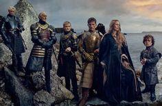 HOUSE LANNISTER Brienne of Tarth, Tywin Lannister, King Joffrey Baratheon, Jaime Lannister, Cersei Lannister-Baratheon, & Tyrion Lannister ▪ Annie Leibovitz, Vanity Fair, April 2014