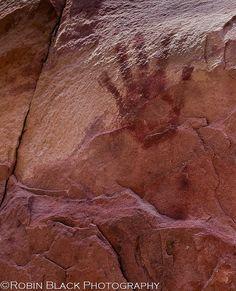 Anasazi Handprint (Pictograph, Red Rock Canyon National Conservation Area, NV), via Flickr.