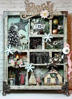 Christmas configuration box- use old drawer