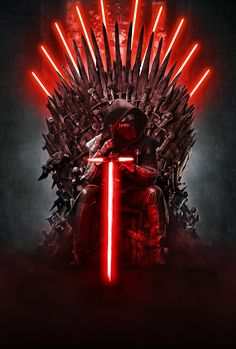 Star Wars Meets Game of Thrones - Will Kylo Ren sit on the Iron Throne? Star Wars Fan Art, Simbolos Star Wars, Star Wars Kylo Ren, Anakin Vader, Darth Vader, Star Wars Brasil, Tatoo Star, Cuadros Star Wars, Images Star Wars