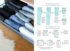 Wardrobe Organisation, Organisation Hacks, Closet Organization, Bedroom Closet Design, Room Decor Bedroom, Organizar Closets, Closet Organizer With Drawers, Closet Hacks, Big Bathrooms