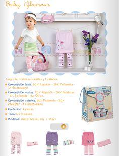 Baby Glamour/Juego de 1 falda con mallas y una valerina/Talla 6 a 9 meses/ 3 Modelos Diferentes