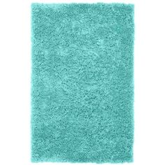 PB Teen Ultra Plush Rug, 8x10', Pool at Pottery Barn Teen - Area Rugs... ($659) ❤ liked on Polyvore featuring home, rugs, home decor, blue, plush shag rug, blue throw rugs, plush rugs, plush area rugs and faux rug