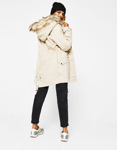 563ea01290f Bershka Croatia - Parka with removable faux fur lining Joggers