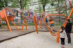Osdorp Oever playground in Amsterdam, The Netherlands, designed by Carve - photo by Carve, via Landezine