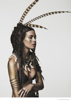 Nuria Nieva in Tribal Chic Fashion x Elle photography dailyshit fashion ShockBlast