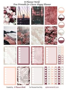 Free Burgundy Printable Spread for Erin Condren Recollections and Happy Planner
