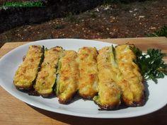 Zucchine ripiene di uova e formaggio