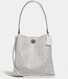 Coach Purses, Coach Bags, Purses And Bags, Gucci Handbags, Handbags On Sale, Vintage Coach, Gold Leather, Dillards, Bucket Bag