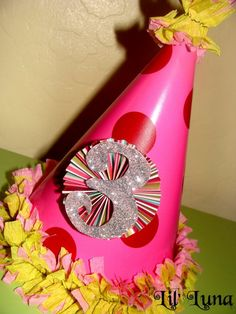ruffled streamers on party hats