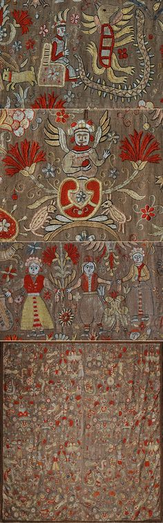 Antique Greek Cretan Silk Embroidery Medieval Embroidery, Palestinian Embroidery, Types Of Embroidery, Folk Embroidery, Embroidery Patterns Free, Textiles, Contemporary Decorative Art, Bayeux Tapestry, Wool Quilts