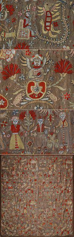 Antique Greek Cretan Silk Embroidery