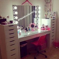 .@Naomi Praise   So inspired by my amazing friend @pinkmissysparklez's DIY vanity using furnit...   Webstagram - the best Instagram viewer
