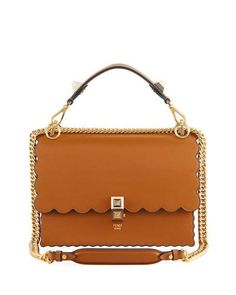 Kan I Regular Leather Scalloped Shoulder Bag by Fendi at Neiman Marcus  Neiman Marcus 04ee9fccecd22