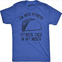 Mens Fitness Taco Funny Gym T Shirt Humorous Mexican Food Tee For Guys * Click image to review more details.