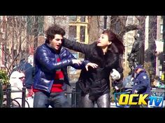 Physically Abused Boyfriend Hits Girlfriend Back In Public Experiment! - YouTube