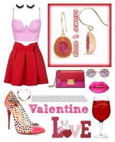 """""""Mix it. #Both Red and Pink"""" by yemmy-made on Polyvore featuring Christian Louboutin, WithChic, Gucci, Cathy's Concepts and Sunday Somewhere"""