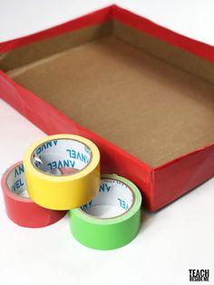 Homemade Christmas Marble Game – Teach Beside Me Marble Games, Duct Tape, Homemade Christmas, Crafts, Manualidades, Tape, Handmade Crafts, Duck Tape, Craft