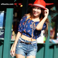 Womens Low Collar  Puff Sleeve slim fit dark blue Tshirt