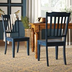 Birch Lane: Farmhouse & Traditional Furniture - Made to Last Farmhouse Dining Chairs, Solid Wood Dining Chairs, Upholstered Dining Chairs, Dining Chair Set, Dining Room Chairs, Side Chairs, Dining Rooms, Dining Tables, Spindle Chair