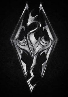 How to draw a Skyrim logo