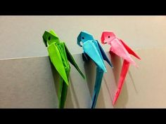 How to make Origami 3D Parrot - Best Origami Tutorial - YouTube                                                                                                                                                                                 Plus