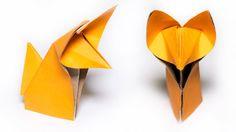 Origami Fuchs. Wie man einen süßen Fuchs zu machen