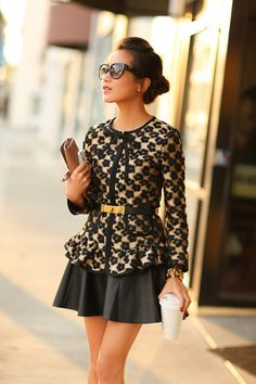 Return of the Leopard :: Floral spots Love it with just a little longer skirt I'm not 20 any longer LOL